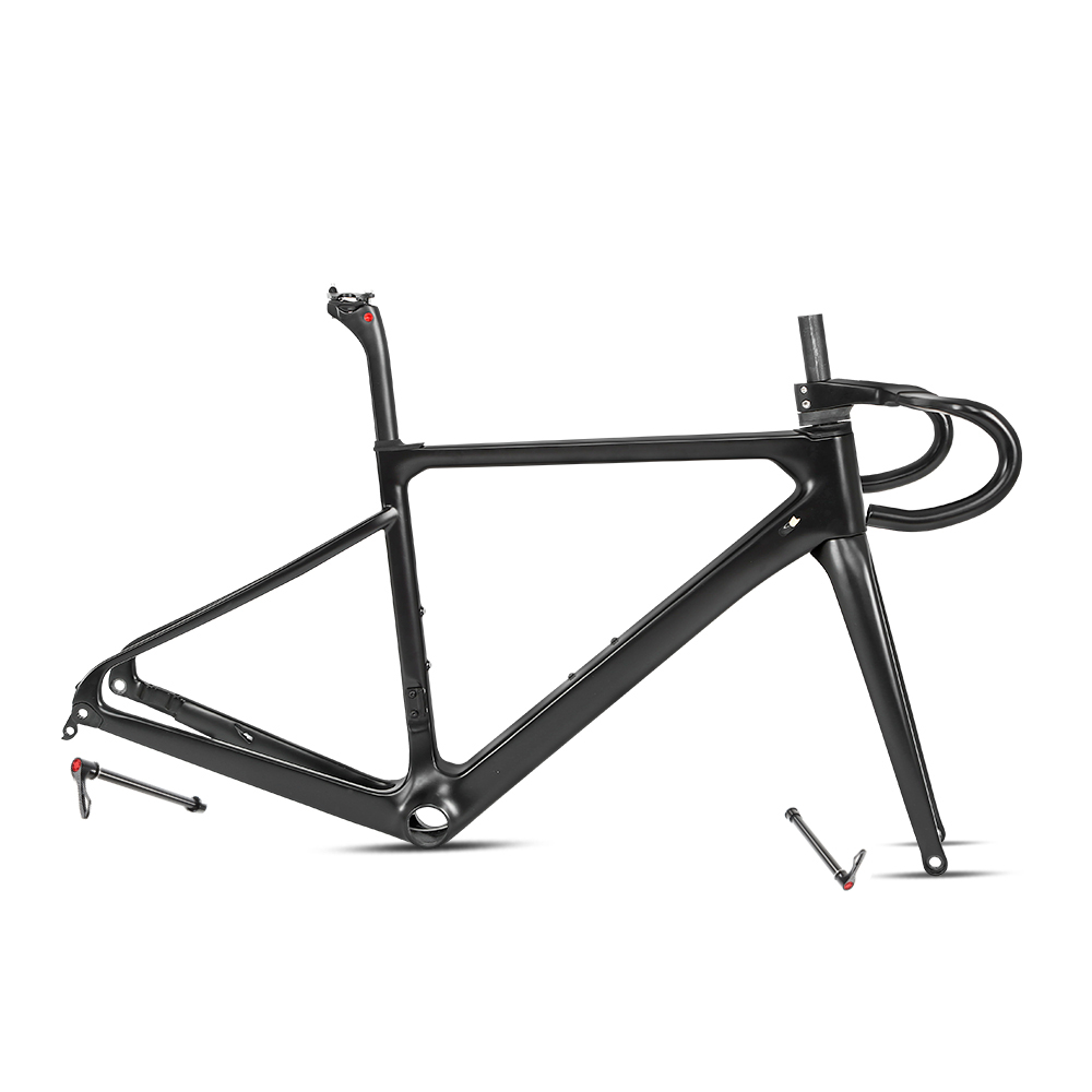 R6 Carbon Road Bike Frame Disc Brake 700C Thru Axle 12*142mm Racing Gravel Bicycle Frames 58cm 2020 New Arrival