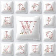 Pillow Cover 45x45cm Room English Alphabet For Home goods 1PC Polyester Pillowcase New
