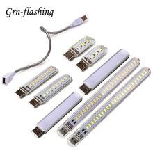 Мини Портативная светодиодная USB 5 в 3 8 12 24 светодиодный светильник SMD 5730 настольная лампа книга фонарик ночник для внешнего аккумулятора ноутбука кемпинг
