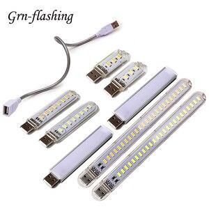 Mini Portable USB LED 5V 3 8 12 24 LED Light SMD 5730 Table Desk Lamp Book Flashlight Night Light for Power Bank Laptop Camping(China)