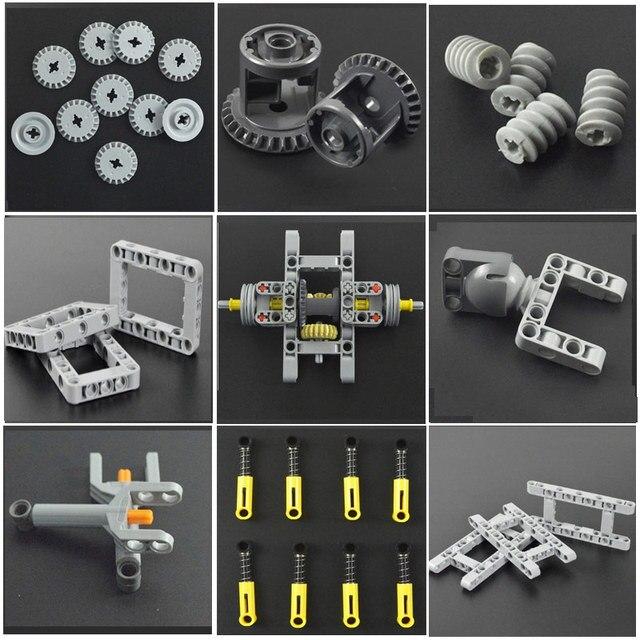 Parts Power Functions Linear Actuator Rod Blocks Telescopic Push Rod MOC Technology Multiple sizes Bricks 1