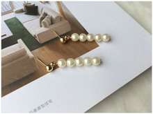 Japanese And Korean Style Retro Temperament Personality Wild Beaded Pearl Pendant Earrings Hand Made Custom Wholesale