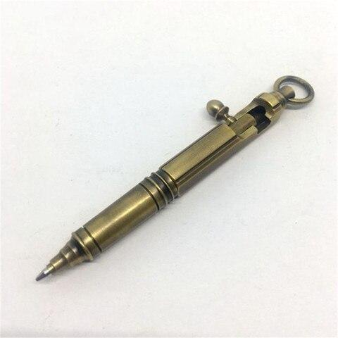 mao antiga caneta tatica de bronze parafuso