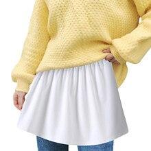 Skirt Extender Tiered Printing Women's Plus-Size Half-Slip Sheer -G Elasticfaldasladiesmidiskirtssexygirl