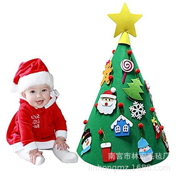 Felt Christmas Ornaments Christmas Hat DIY CHILDREN'S Toy Handmade Stereo Christmas Tree