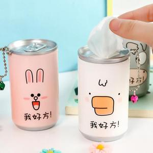 1pc Cute Cans Shape Wet Wipes For Hands Gently Clean Portable 30pcs/bottle Disinfection Wipes Wet Paper Towel Random Color
