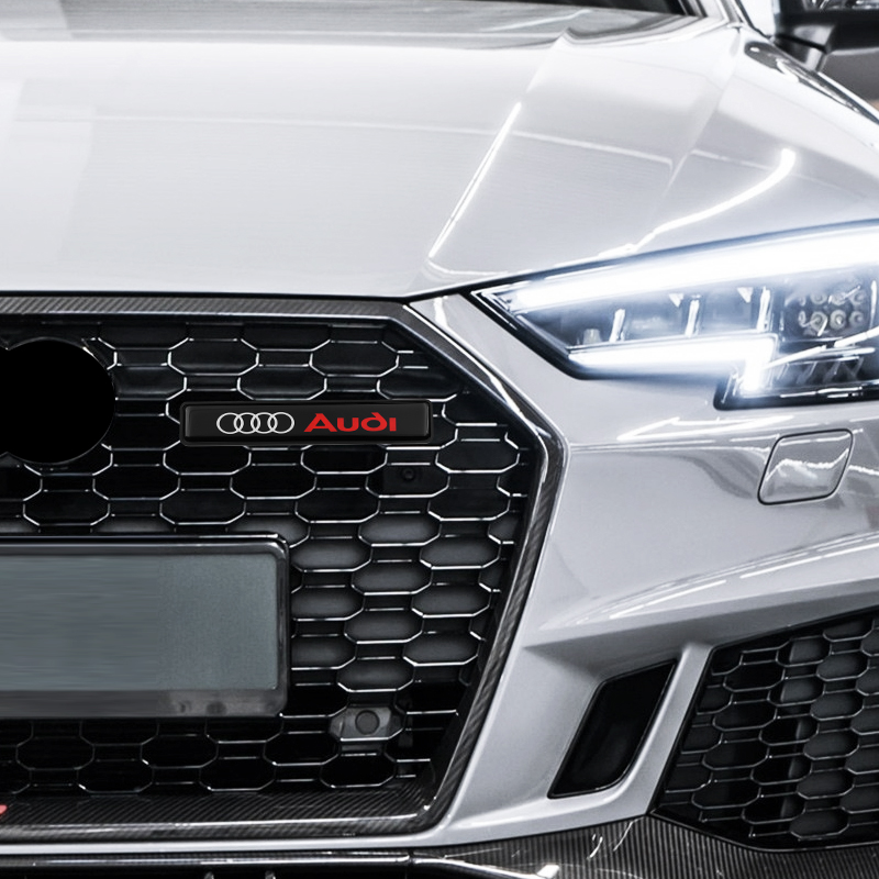 1pcs For <font><b>Audi</b></font> a3 a4 a5 a6 a7 <font><b>a8</b></font> Q3 Q4 Q5 Q6 Q7 b8 b6 Car Front <font><b>Hood</b></font> Grille Emblem Badge LED Decorative lights car accessories image
