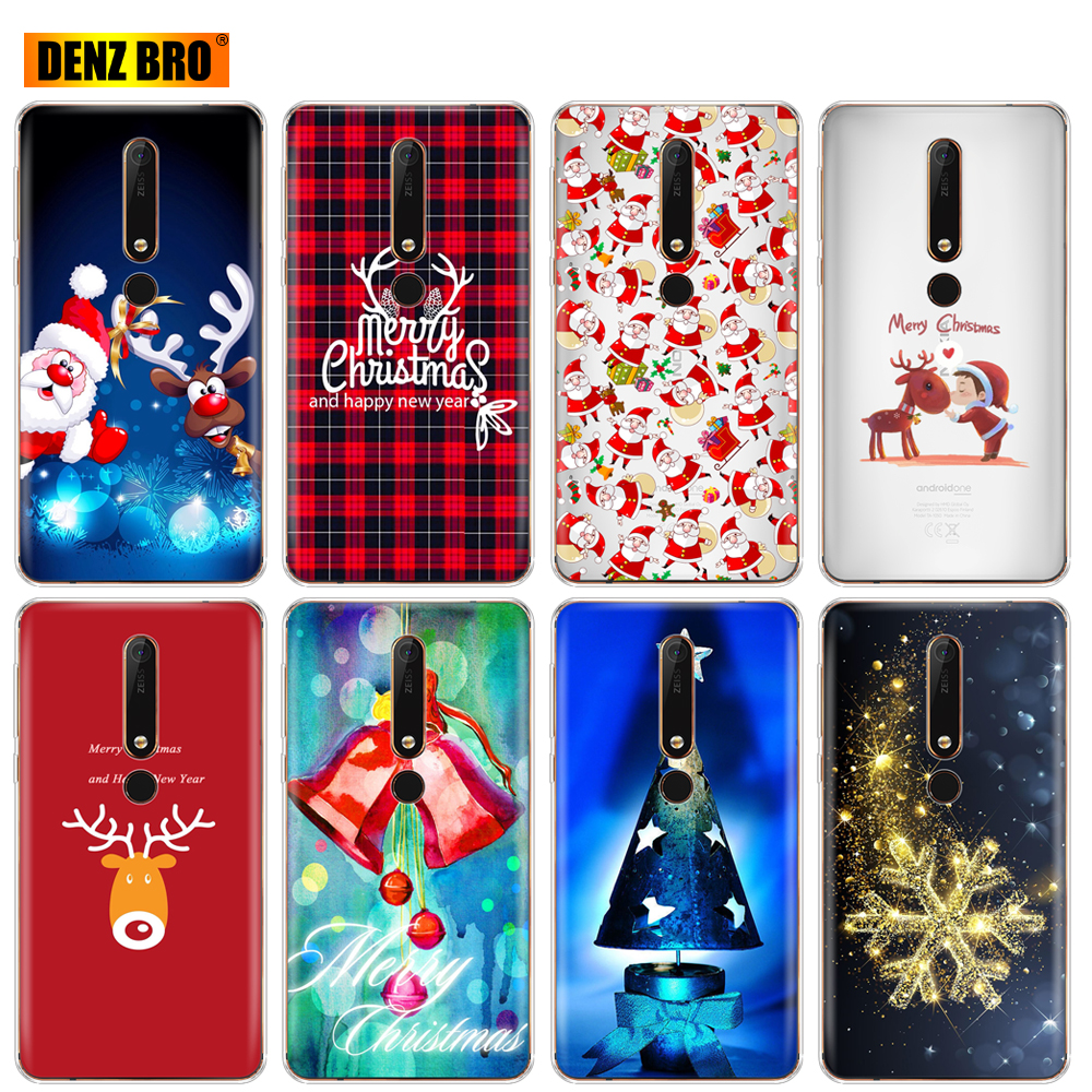 Silicon phone case <font><b>cover</b></font> <font><b>for</b></font> <font><b>Nokia</b></font> 1 2 5 3 6 7 8 9 2017 <font><b>nokia</b></font> 6 <font><b>2018</b></font> 6.1 3.1 <font><b>2.1</b></font> 5.1 PLUS x5 x6 soft tpu Merry Christmas gift image