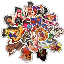 50Pcs PVC Waterproof Stickers Retro Sexy Beauty Girl for Mobile Phone Laptop Motorcycle Skateboard Luggage Stickers Decal Toys