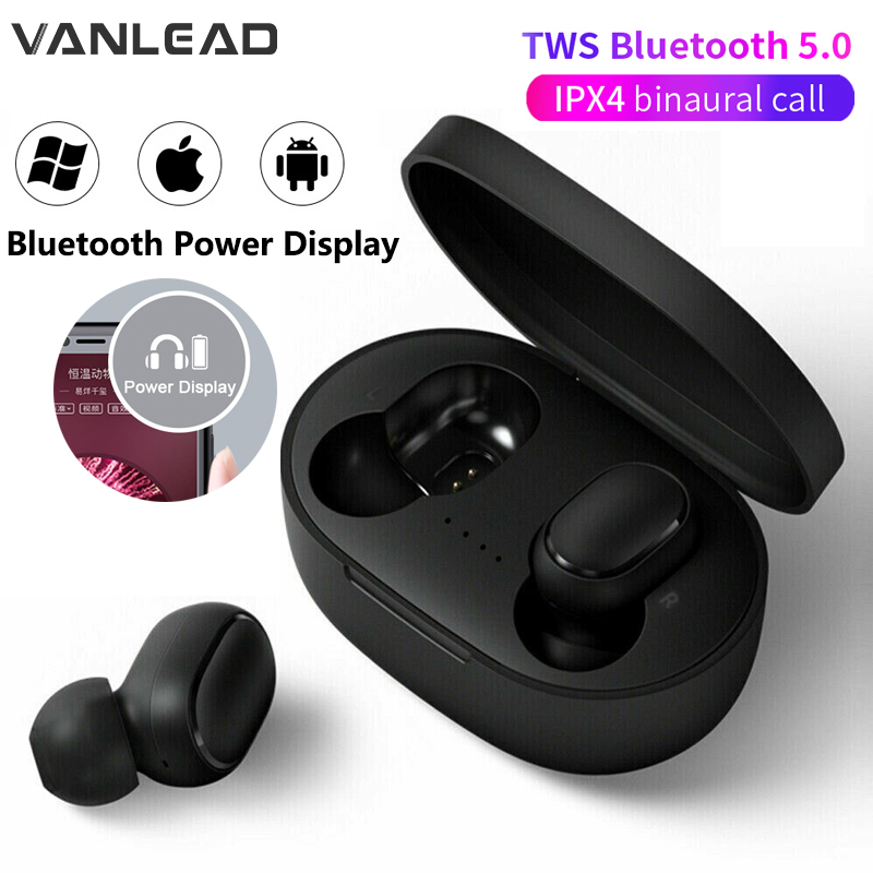 New A6S 5.0 TWS Bluetooth Headsets For Xiaomi Airdots Wireless Earbuds Earphone Noise Cancel Mic For Redmi IPhone Huawei Samsung