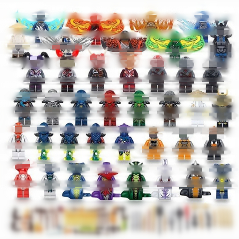 40PCS/LOT Ninjago War Snake Series Building Blocks Toys For Kids Assembling With Weapons Wing Lepining Action Figures Model Toy