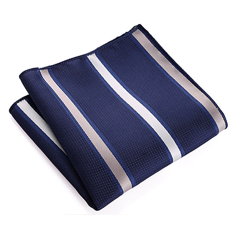 Vintage Floral/Striped/Polka Dot Handkerchief Wedding Polyester Printed Men's Fashion Business Suit Chest Pocket Square Towel