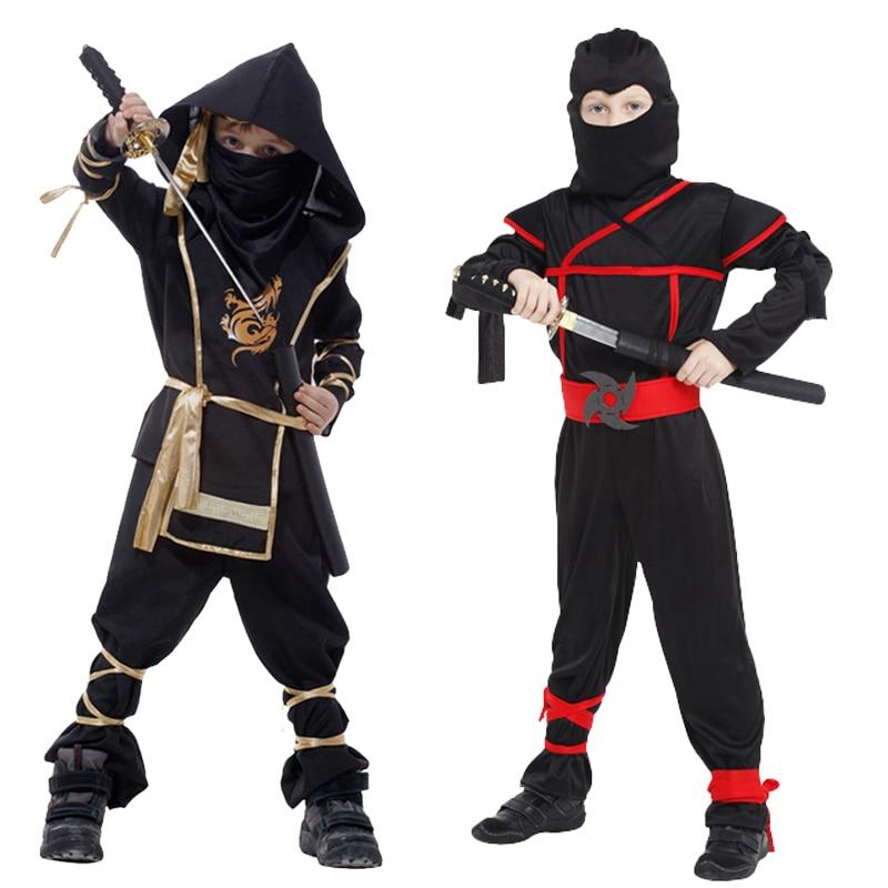 Ninja çocuk erkek kostümleri Cosplay kostüm dövüş sanatları Ninja kostümleri çocuklar için fantezi parti süslemeleri malzemeleri üniformaları