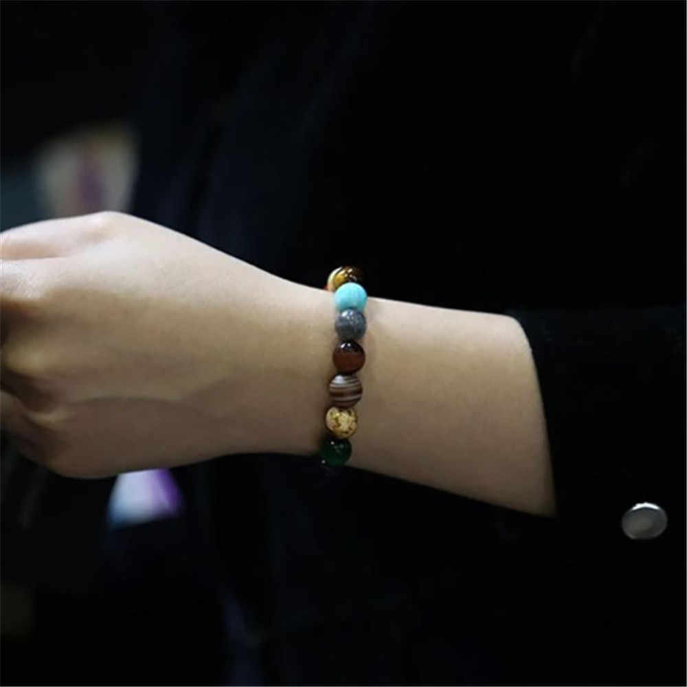 2020 huit planètes perle Bracelet hommes pierre naturelle univers Yoga solaire Chakra Bracelet pour femmes hommes bijoux cadeaux livraison directe