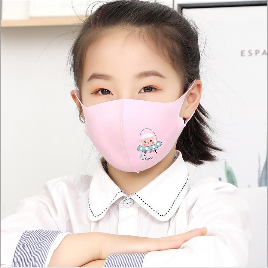 4 Pieces 3-10 Year Old Cartoon Kids Mouth Mask Flexible Anti-Dust Anti Bacteria Mask Windproof Mouth-muffle  Mask On The Mouth