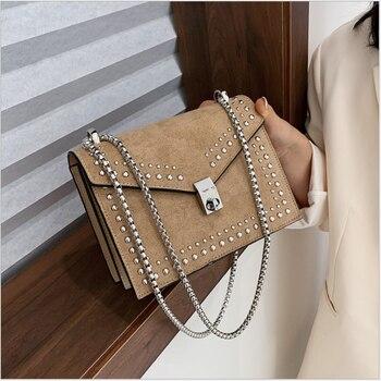 Women 2020 Bag Fashion rivet Handbag Bag money bag women bag bag single shoulder bag handbag bag women luxury bag women bag... D