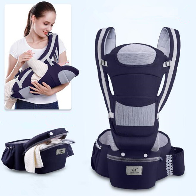 0-48M Ergonomic Baby Carrier 15 Using Way Infant Baby Hipseat Carrier Front Facing Ergonomic Kangaroo Baby Wrap Sling Travel