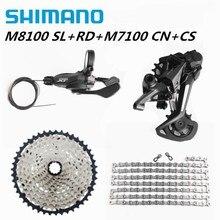 SHIMANO DEORE XT M8100 m7100 m6100 1x12s Groupset M8100 שיפטר אחורי הילוכים שרשרת קלטת MTB אופני הרים 51T SL + RD + CS + HG