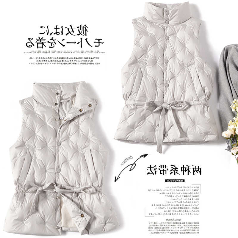 Chaleco de mujer otoño invierno sin mangas chaqueta de plumón de mujer Chaleco de plumón de pato blanco chaleco coreano chalecos 2020 dj3830