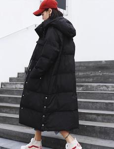 Image 5 - JuneLove женская теплая пуховая куртка из хлопка, винтажная женская зимняя модная Толстая парка с капюшоном и карманами, теплая куртка оверсайз, верхняя одежда