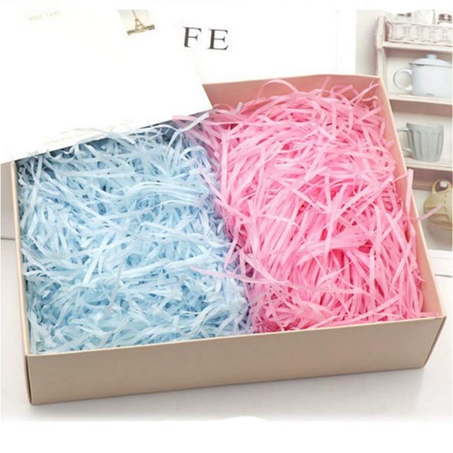 Raphia coloré de boîtes à bonbons, de couleur, en papier froissé, de couleur, pour emballage de cadeau, en tissu, pour fête, à réaliser soi-même, 20g par sachet