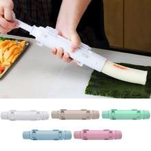 Gadget de cozinha sushi fabricante rolo japonês arroz molde sushi bazuca vegetal carne ferramenta de rolamento diy sushi que faz a máquina 5 cores