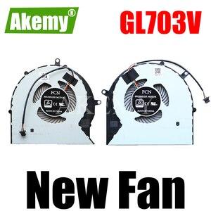 Новый для For For For Asus GL703 ROG STRIX GL703V GL703VD GL703VM Вентилятор охлаждения процессора DC 4PIN 12 В 0.4A cpu + GPU