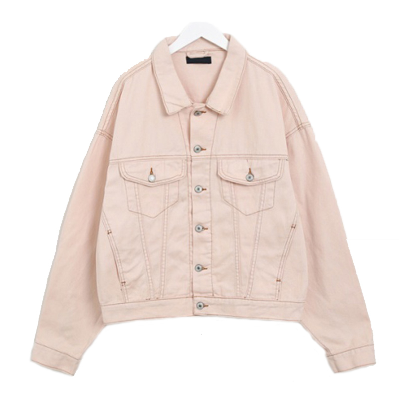 Spring Candy Colors Women Denim   Jackets   Long Mouths   Basic     Jacket   Loose Women Jeans   Jackets   Plus Size Female Runner