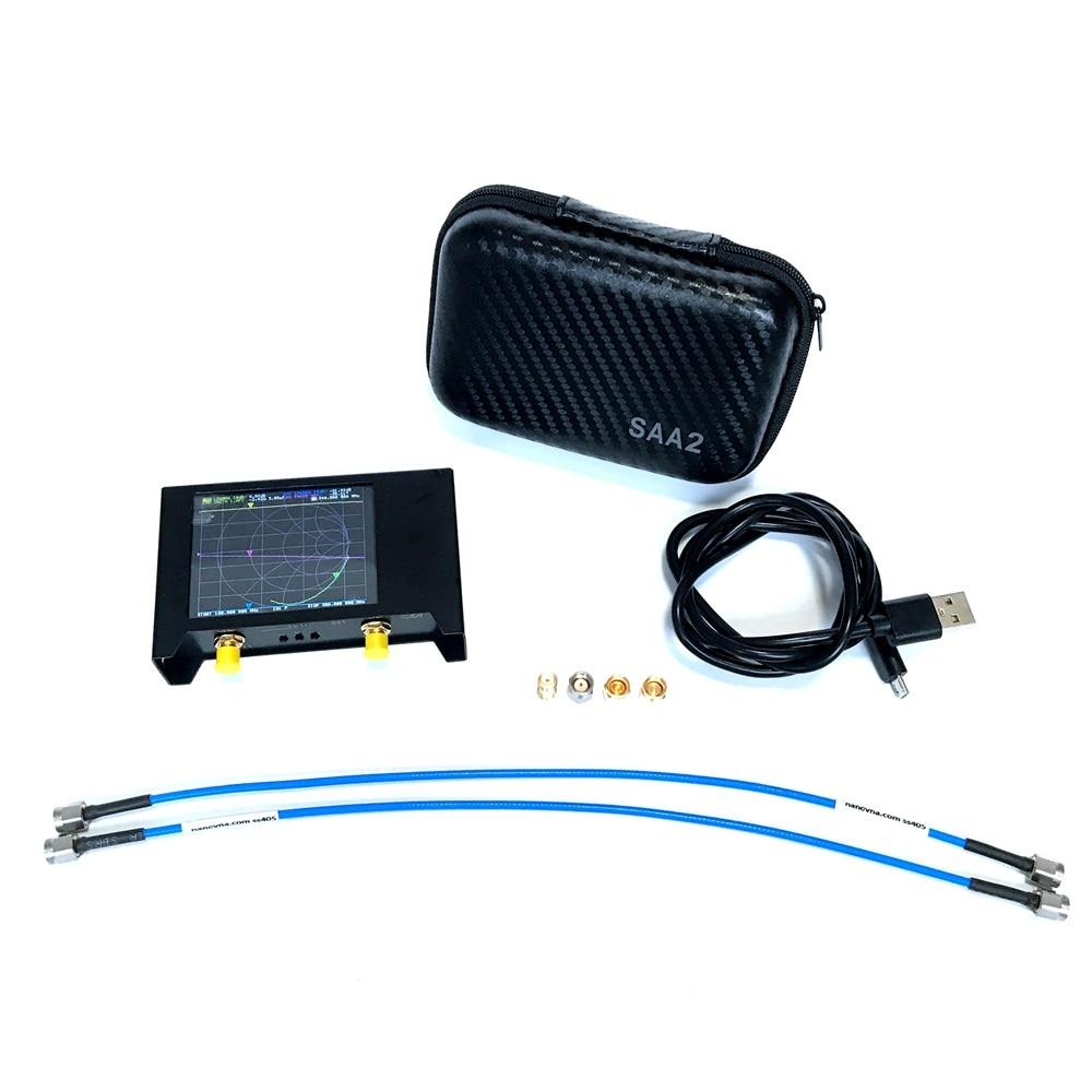 2020 NanoVNA V2  SAA2 3G Version VNA HF VHF UHF UV Vector Network Analyzer Antenna Analyzer with EVA Storage Bag