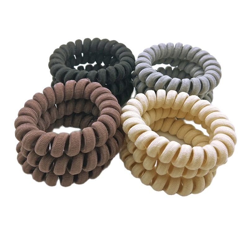 Lot 100 Pcs Fabric Wrap Telephone  Elastic Hair Bands  For Women  Accessories Girls Rubber   Ropes Size 5.5 CM