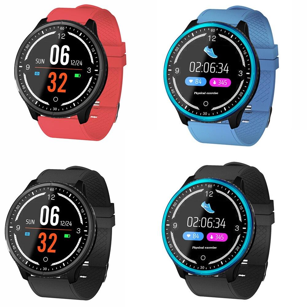 Montre intelligente P69 Fitness Tracker bande fréquence cardiaque Smartwatch horloge de pression artérielle pour Samsun Xiomi ios téléphone pk P68 SmartWatch