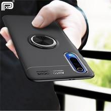 VIVO V17 Neo kılıf için Metal parmak yüzük mat yumuşak TPU silikon arka kapak için VIVO Y7s S1 hindistan baskı IQOO Neo telefon kılıfı