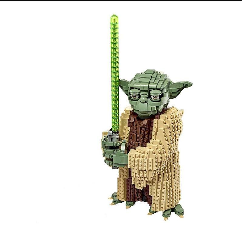 Serie Star Wars bloques de construcción de Yoda juguetes de bloques de construcción regalo de Navidad para niños Compatible 75255 GOROCK ensamblar bloques de construcción grandes de autobús montar ladrillos clásicos juguetes de bricolaje regalo de bebé Compatible con aviones LegoINGlys duplie