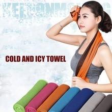 Двухцветное полотенце для льда, спортивное полотенце для путешествий, кемпинга, холодное полотенце s с прохладным охлаждающим эффектом, фитнес-йога, гольф, спортивное охлаждающее полотенце на открытом воздухе s
