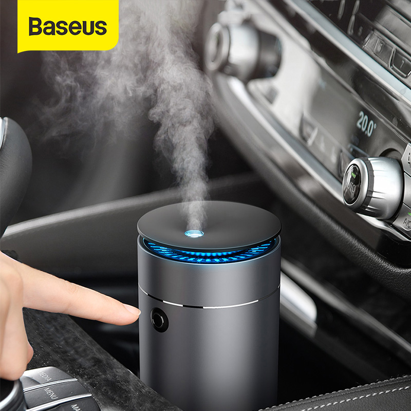 Baseus Car Air Humidifier Aroma Essential Oil Diffuser for Home Car Air Purifier USB Fogger Mist Maker Detachable Humidification