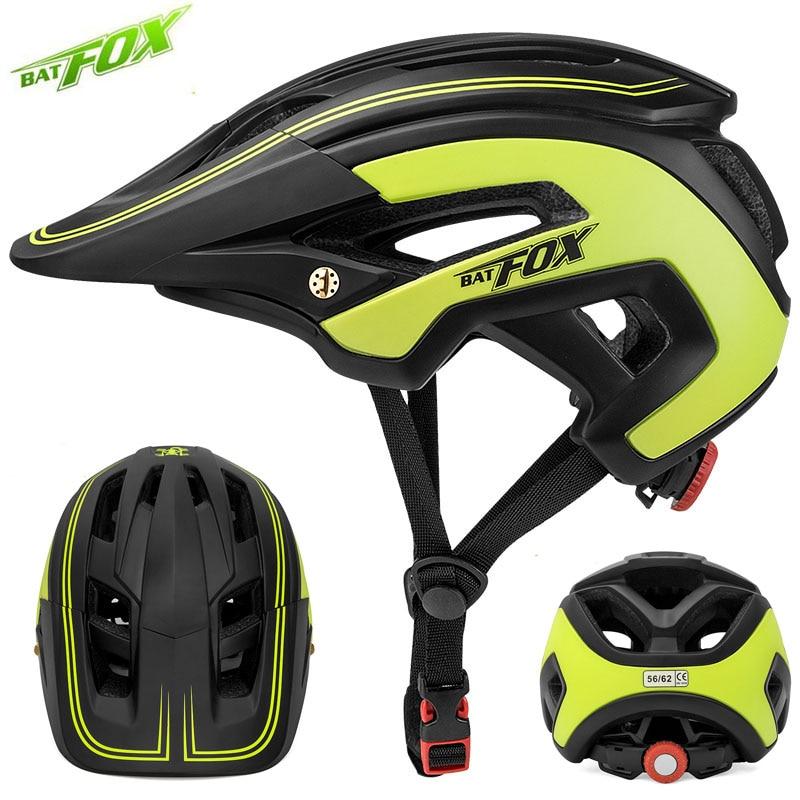 BATFOX Men Cycling Helmet Road Mountain Bike Capacete Da Bicicleta Bicycle Helmet Casco Mtb Cycling Helmet Bike cascos bicicleta