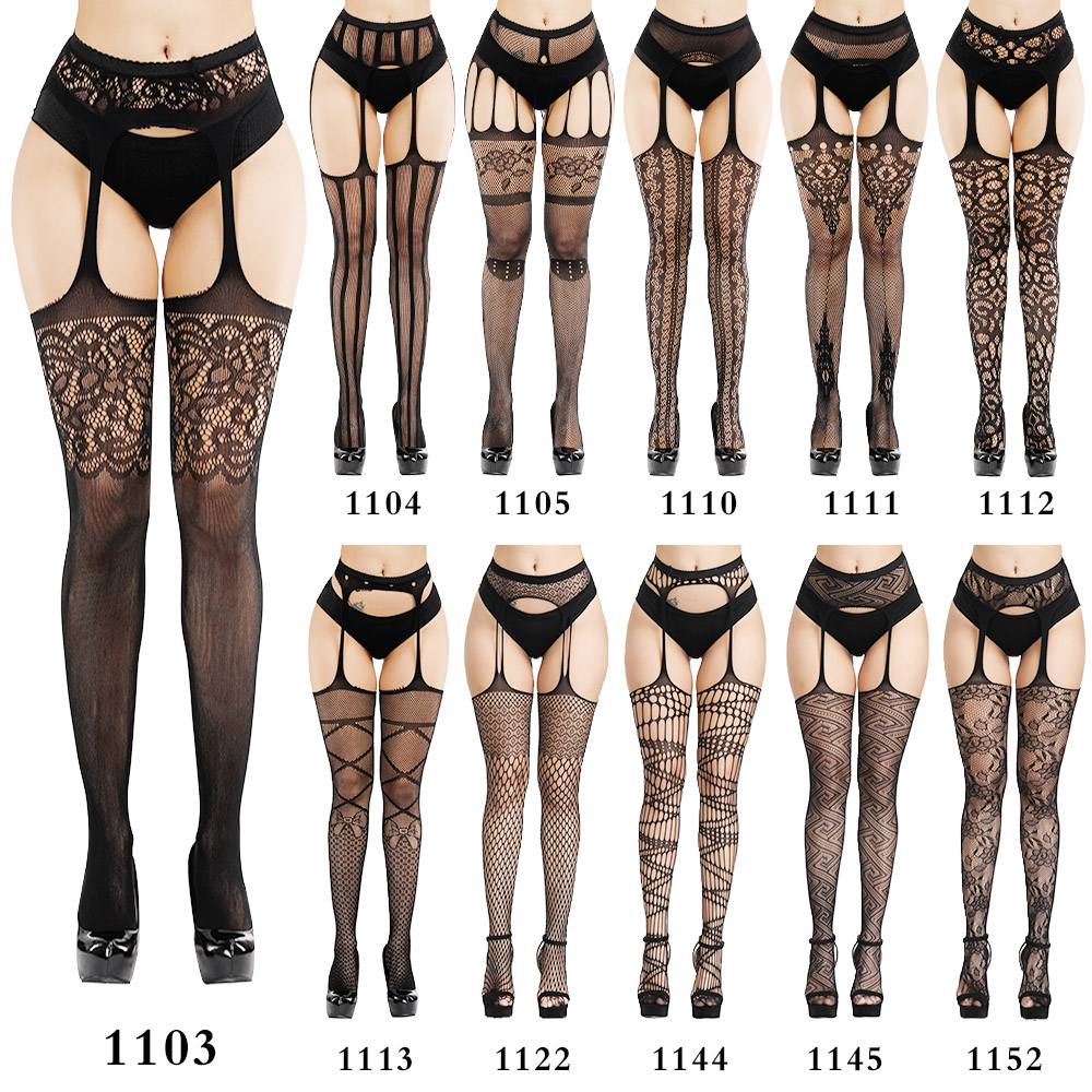Sexy Lingerie One Size Pantyhose Mesh Net Single Open Pantyhose Three-hole Mesh Babydoll Sexy Mesh Socks Sex Stockings For Woman