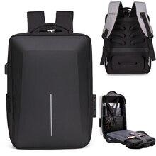 Мужской многофункциональный рюкзак для ноутбука 15,6 дюйма с отражающей полосой и USB-защитой от кражи, дорожная сумка для ноутбука, школьная с...