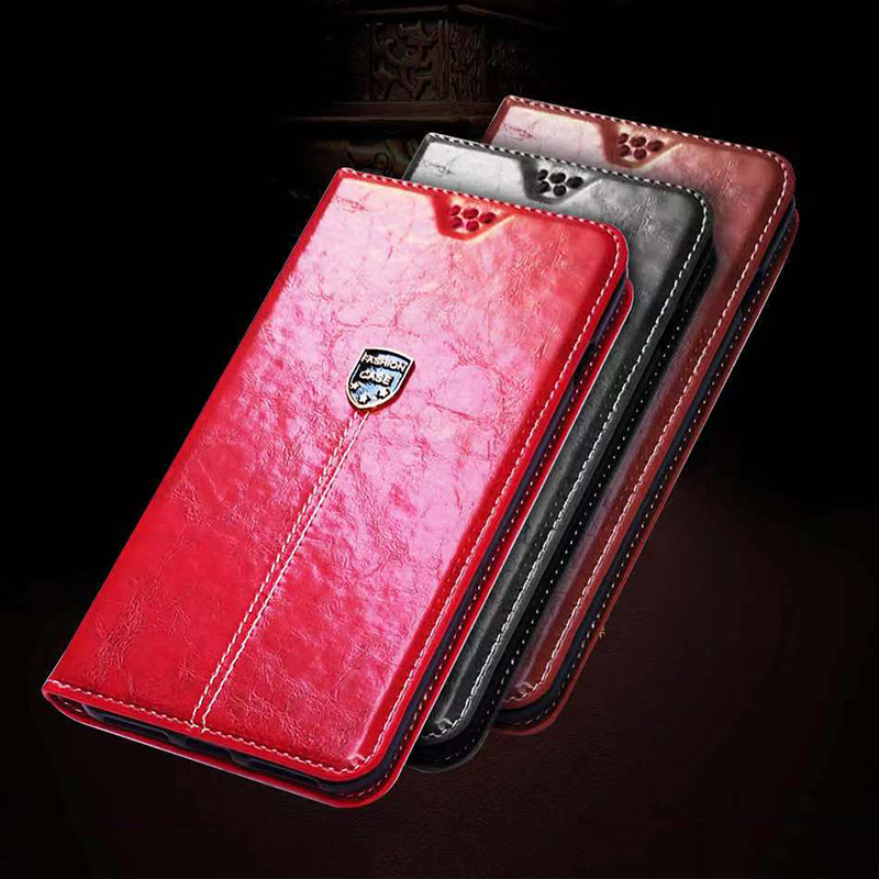 PU Leather Book Case for <font><b>Alcatel</b></font> <font><b>One</b></font> <font><b>Touch</b></font> <font><b>Idol</b></font> <font><b>4</b></font> <font><b>6055</b></font> 6055B 6055H 6055K 6055Y Wallet Flip Case Soft Silicone Back Cover image