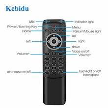 KEBIDU ratón inalámbrico MT1 con Control remoto por voz, 2,4G, giroscopio de aprendizaje, mando a distancia inteligente, retroiluminado para juego, Android, TV Box