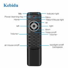 Kebidu 2.4G Draadloze Voice Air Mouse MT1 Afstandsbediening Ir Leren Gyro Sensing Smart Remote Backlit Voor Game Android tv Box