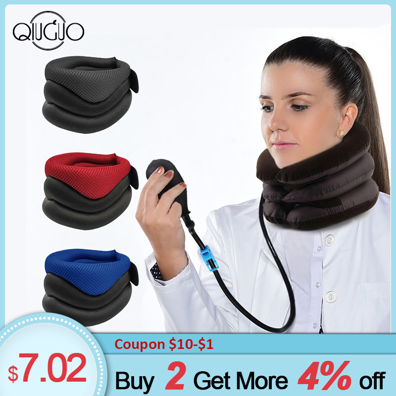 Neck Support Cervical Traction Collar Protector Belt Massage Neck Posture Corrector Pain Relief Collar Cervical Traction Support