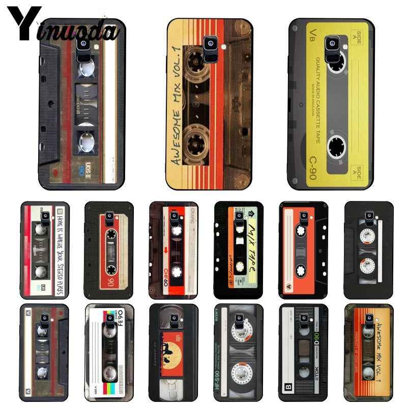 Yinuoda Original Retro Kassette Band Telefon Fall Für Samsung Galaxy A7 A50 A70 A40 A20 A30 A8 A6 A8 Plus a9 2018