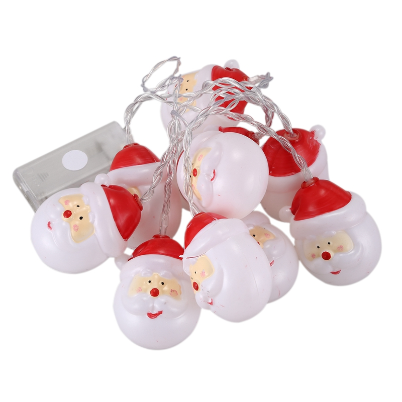 1.5M Christmas Tree Decor LED Battery Operated Light String Merry Christmas Santa Claus Snowman Light Xmas Home Shop Home Decor