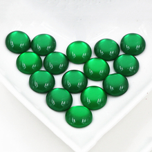 New Fashion 100pcs 12mm Green Color Flat back Resin Cabochons Cameo  G5-09