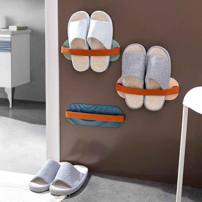 rangement mural pour chaussures porte pantoufles organiseur elastique pour rangement mural des chaussures