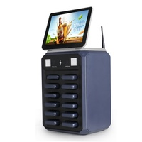 Cell Phone Charging Kiosk Station With Lock Box 12 Ports 5000mAh Rental Powerbanks