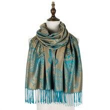 jacquard scarf rayon paisley women wraps shawls scarves mujer winter cappa outwear pashmina cotton fashion amice vimpa