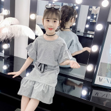 Children Summer Clothes 2020 Girls Suits Fashion Flare Sleeve Tops & Ruffles Skirts Kids Outfits 2Pcs Baby Girls Clothing Set