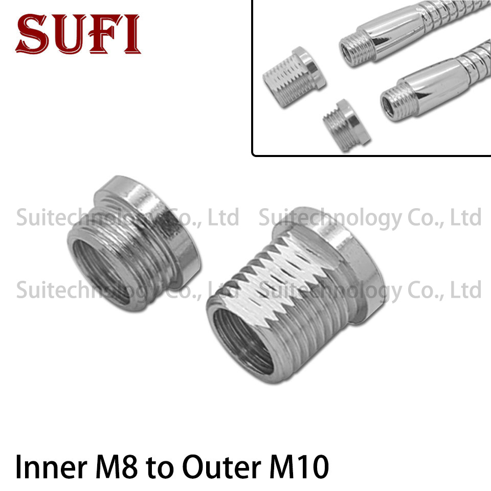 2pcs Inner M8 To Outer M10 Connect Hose Gooseneck Tube Connection Hose Can Make Outer Teeth M8 Become Outer Teeth M10